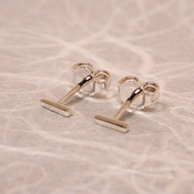thin sterling silver bar studs