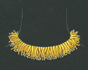 Coral - 18 Karat  yellow gold necklace with pearls
