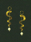 18 Karat spiral earrings with baroque pearls