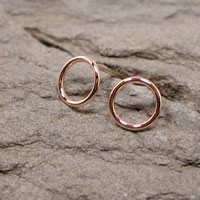 rose gold hoops 8.5mm