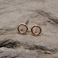 rose gold hoops 5mm