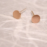 brushed rose gold studs