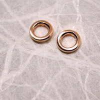 brushed rose gold circle hoop earrings