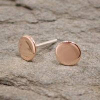 6mm rose gold earrings
