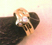 Snake ring 18k yellow gold diamonds