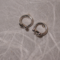 tiny silver snake hoop earrings